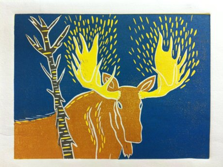 'Golo' Lino cut print by Valarie Lamalice 2011